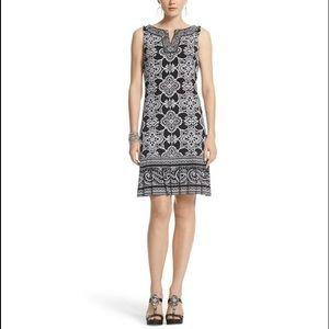 NWT White House Black Market Scroll Print Dress